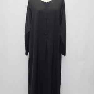 jubah-satin-black